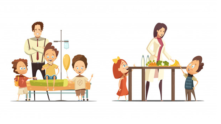 پزشک و درمان مسمومیت غذایی در کودکان